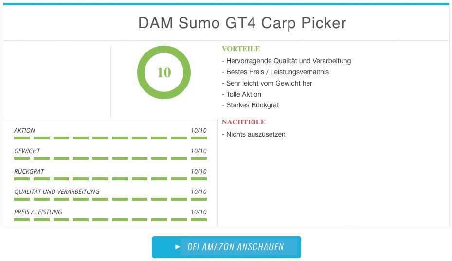 DAM Sumo GT4 Carp Picker Vergleichssieger bester Winkelpicker Test
